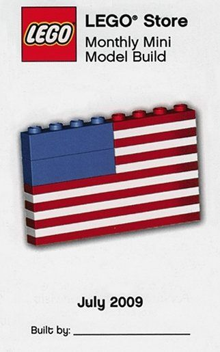 American Flag Lego Build