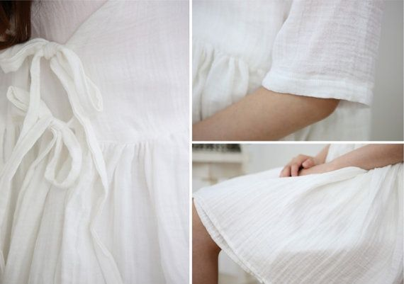 Double Gauze  ● Material: 100% Cotton ● Quantity of 1 = about 55 x 35 (140 cm x 90 cm) ± 0.5 ● Quantity of 2 = about 55 x 70 (140 cm x 180 cm) ± 0.5 ● Color: White Ivory ● This listing is for fabric.  ---------------------------------------------------------- PLEASE NOTE: Fabrics will ship folded via Air Mail Small Packet from South Korea and it takes about 3-8 weeks for your order to arrive after shipment. There is no tracking information for this shipping service. If you wish to a...