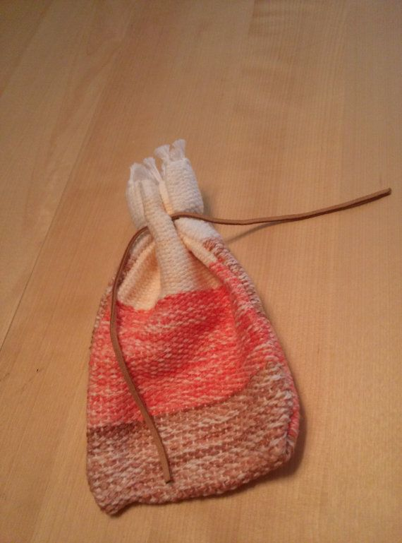 Natural Colored Handwoven Drawstring Pouch, DnD Pouch, Taro Card Holder Check out this item in my Etsy shop https://www.etsy.com/listing/182727383/natural-colored-handwoven-drawstring