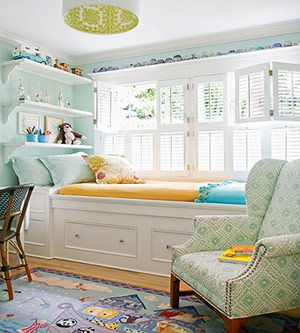 sunny outlook-a bed with storage drawers built under the window  www.familycircle.com
