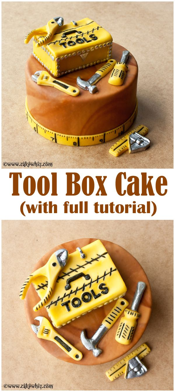 TOOL BOX CAKE with full tutorial ~ The perfect cake to serve at your handymen father and brothers birthday parties