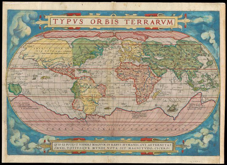 1570 Typus Orbis Terrarum Ortelius Abraham