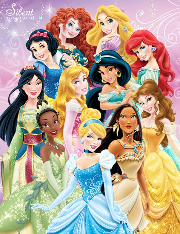 Disney Princesses - The 11 Disney Princesses! by ~SilentMermaid21 on deviantART
