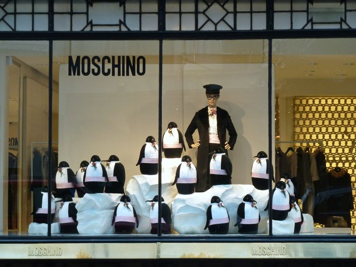 Moschino winter 2011 fashion window display in London's Conduit St, such fun!