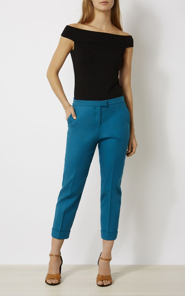 Укороченные брюки с подворотом