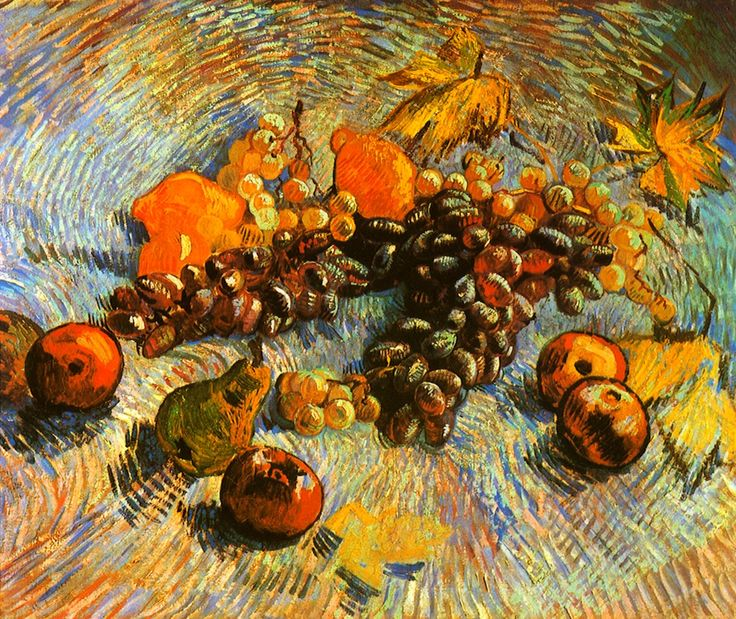 Vincent van Gogh - Still-Life with Apples Pears Lemons and Grapes - 1887