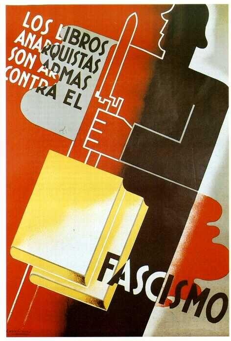 Plakat fra den spanske borgerkrigen