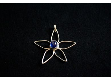 Poppito - Product: 925 silver and blue sapphire pendant £30.00 Mprjewellerydesign