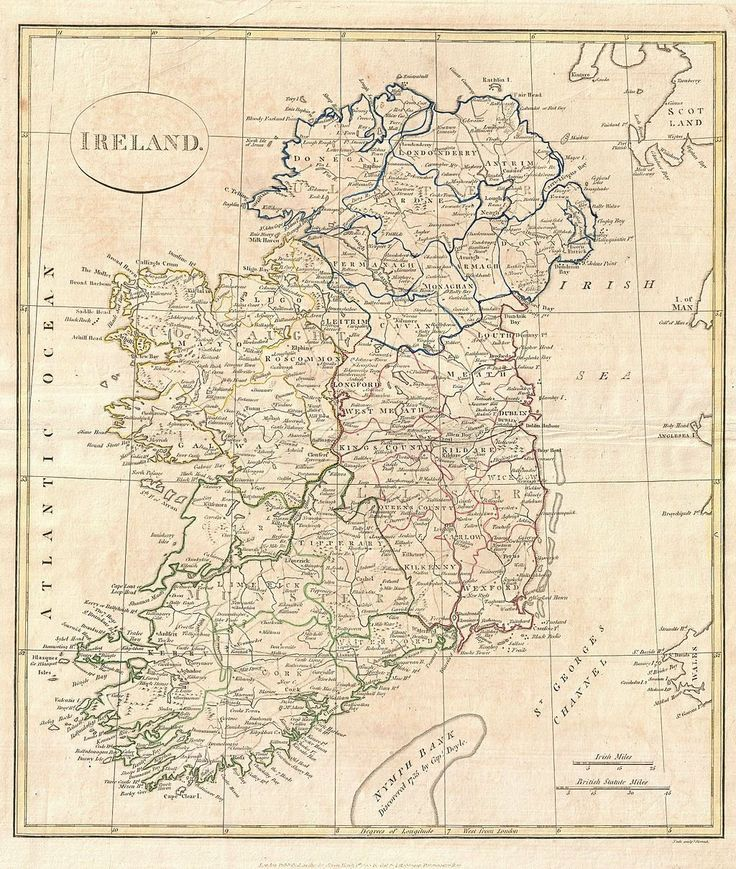 Mappy Monday 1799 Clement Cruttwell Map of Ireland