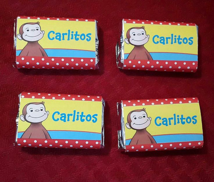 Curious George Chocolates personalize Birthday party