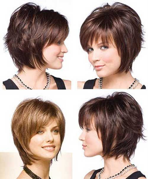 Very short layered bob