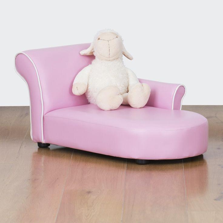 Bambina Kids Chaise Lounge - Bubblegum Pink | $129.00