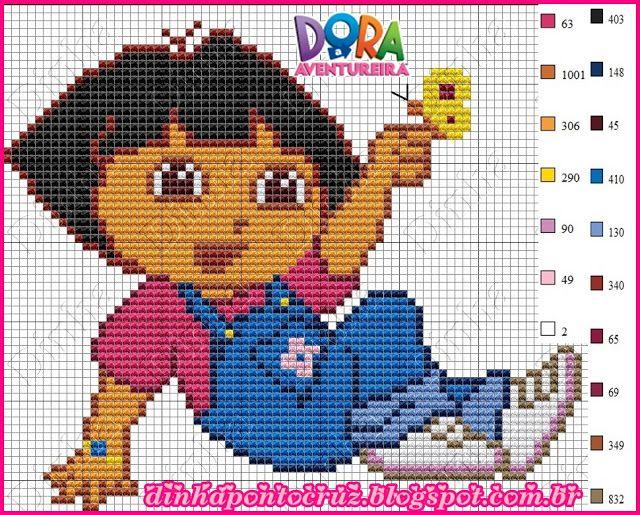 Dora the Explorer pattern by Dinha Ponto Cruz