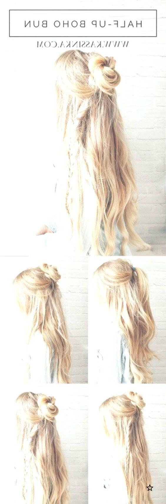 Beste Frisuren für langes Haar - Boho Braided Bun Hair - Schritt für Schritt Anleitungen für… - lockige Frisuren 2019 - #Boho #Braided #bun #curly #Hair