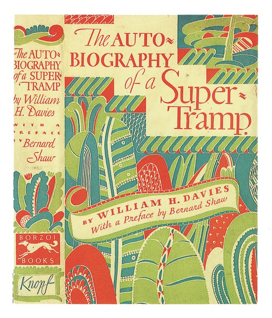 The Autobiography Of A Super Tramp Cubierta De Libro Por William Addison Dwiggins Book DesignBook Cover