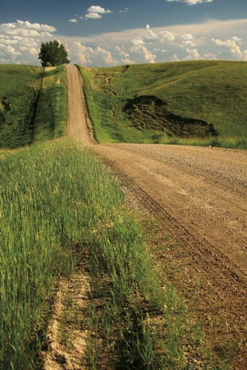 Country road...Reminds us of the wide open spaces on the Waggoner Ranch!