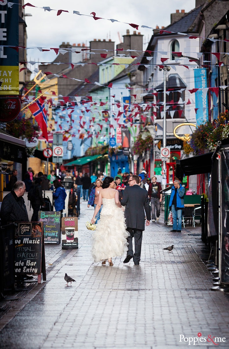 Tie the knot in Galway, Ireland. Captured by Poppiesandme Wedding photography