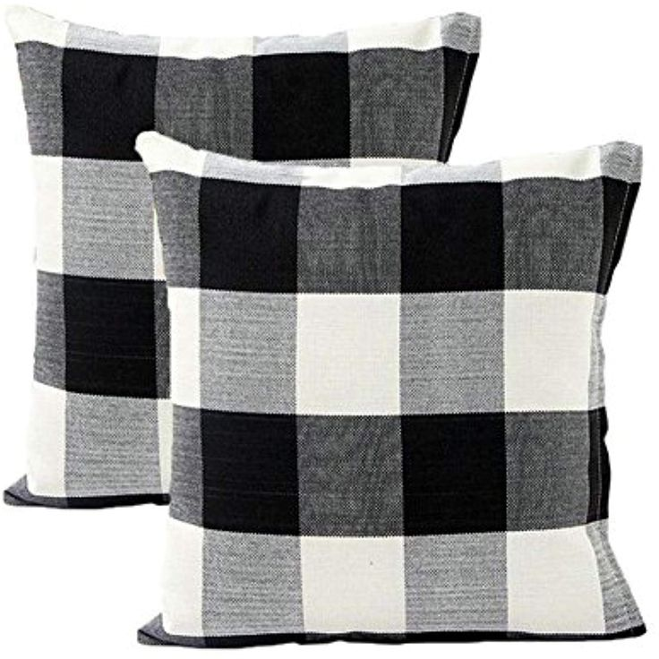 black and white checked chair cover
