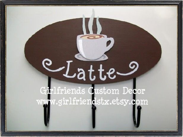 Latte Key Hooks   Perfect Accessory For A Coffee Themed Kitchen. $22.99,  Via Etsy Part 65