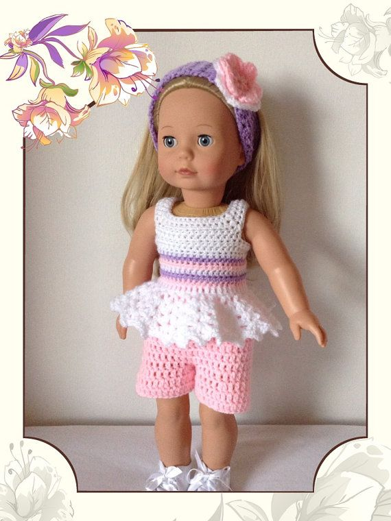 Crochet pattern pdf for 18 inch doll, American Girl doll, designer friend doll or Gotz doll