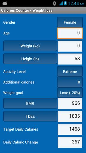 A must have application. now you can lose, gain or maintain your weight with this amazing application. Just fill in a few fields and get instant results,<br>This app helps you to determine your<br>1) Basal Metabolic Rate (BMR)<br>2) Total daily energy exp