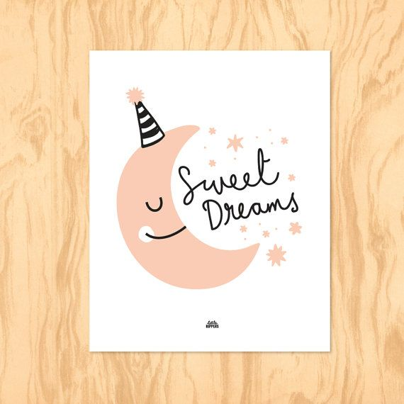 SWEET DREAMS : Printable Art Nursery Art Kids Wall by LittleKipper