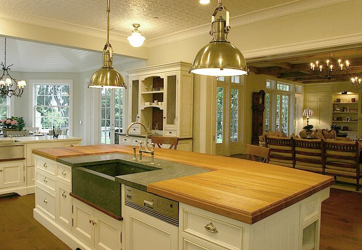 Granite around sink house pinterest islands the o 39 jays and open kitchens - Marble chopping block ...