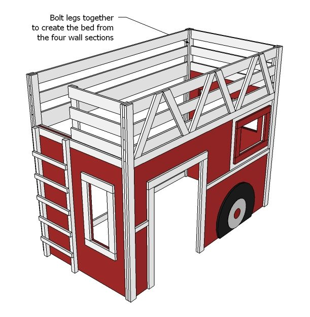 plans for building fire truck loft bed may never use but i do like the