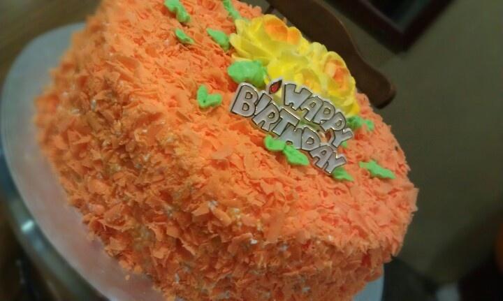 Orange forest cake