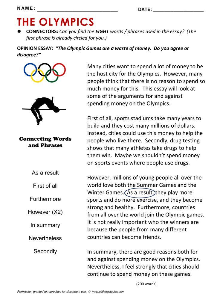 Olympics, English, Learning English, Vocabulary, ESL, English Phrases, http://www.allthingstopics.com/olympics.html