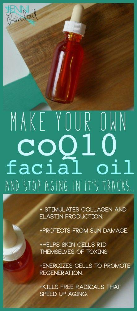 DIY coQ10 Facial Oil,  DIY Beauty, homemade beauty recipes