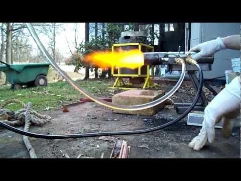 Siphon Oil Burner Running On 100 Waste Motor Oil
