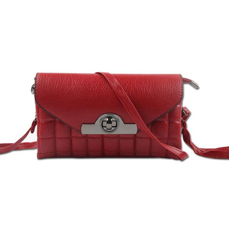 Retro Crossbody Bags Fashion Shoulder Ladies Leather Clutch Bag