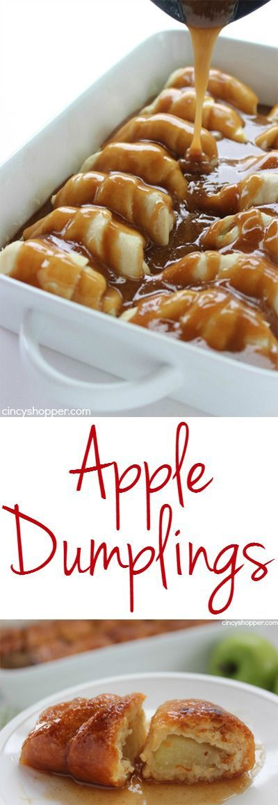 Apple Dumplings - Super easy fall apple dessert. Comes together easily with store bought crescent rolls. Comfort food at it's best!