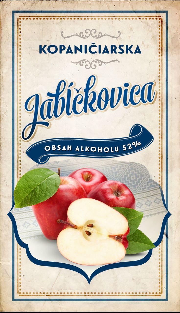 Etiketa - Kopaničiarska jabĺčkovica