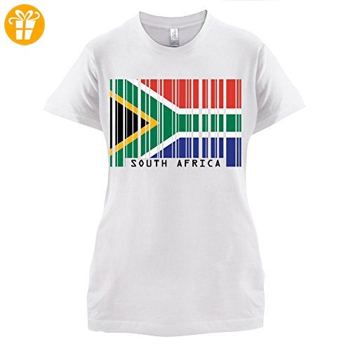 South Africa / Südafrika Barcode Flagge - Damen T-Shirt - Weiß - XXL (*Partner-Link)