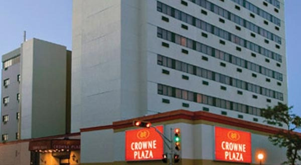 Crowne Plaza in downtown Moncton - the site of the conference