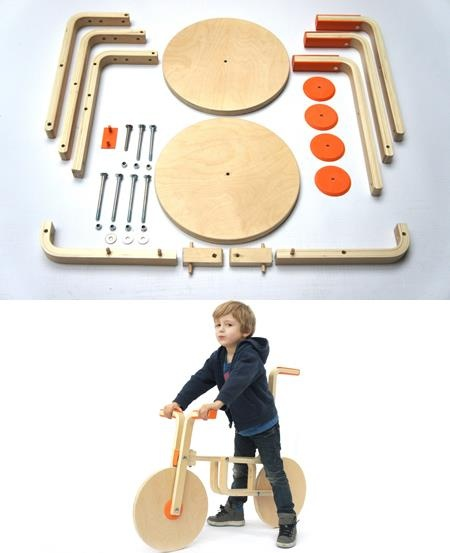 This is taking DIY to the next level:  These IKEA parts for a stool were hacked to build a bicycle.