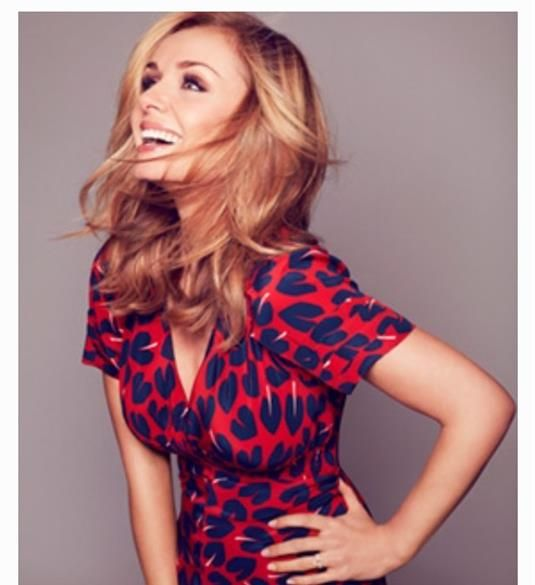 The opera star Katherine Jenkins is photographed in the Adore Hearts Tea Dress by Susannah, as part of her new promotional campaign in the UK and in Japan.