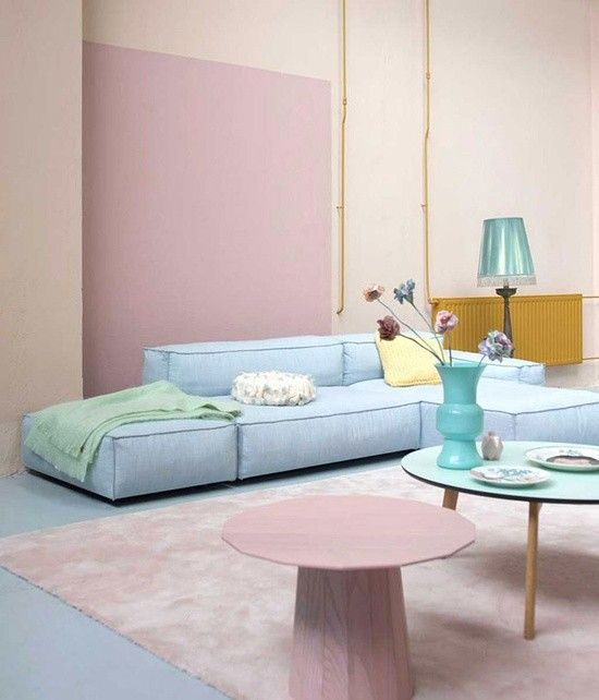 Pastel Rooms | Pastel Colored Living Room