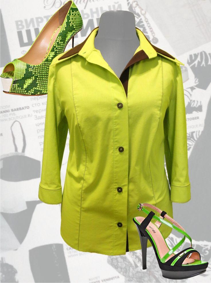 """40$ Блузка для полных женщин """"Салатовая"""" Артикул 453, р50-64 Деловые блузки большие размеры  Офисные блузки большие размеры   Блузки дизайнерские большие размеры  Блузки с длинным рукавом большие размеры"""