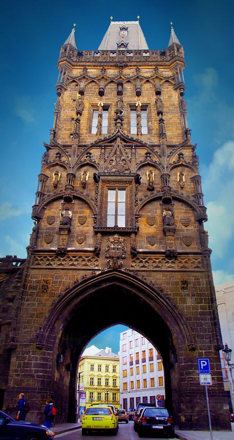 The Old Town Bridge Tower is the gate entrance from the Charles Bridge to Old Town on the east side of Vitava. Prague, Czech Republic •