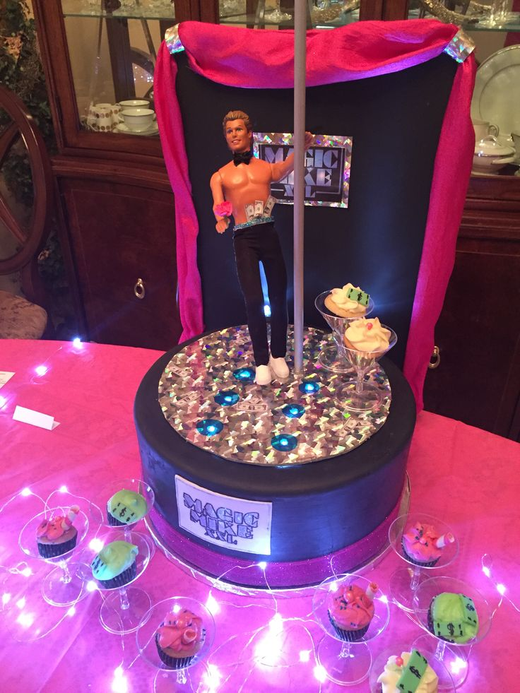 Magic Mike Xxl Party Cake And Cupcakes Male Stripper Cake