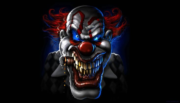 When You See It Scary Clown: Artworks, Skull Wallpaper And Evil Clowns