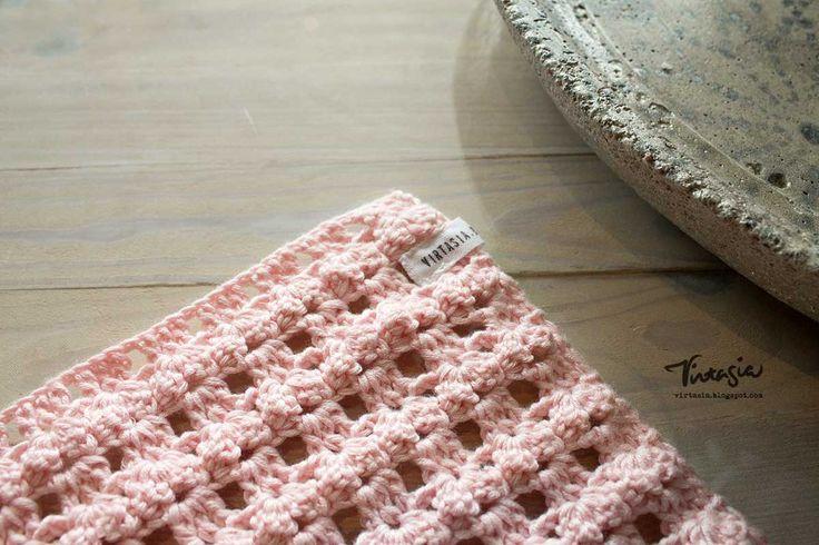 Virkattu tiskirätti. Crochet dishcloth. #virkkaus #tiskirätti #crochet #dishcloth