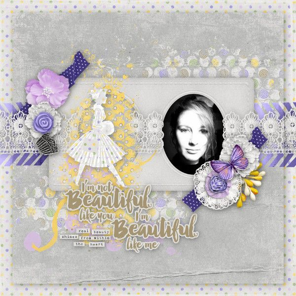 Sweet-Chick Scrap and CoMy page with beautiful ladies by yas scrap