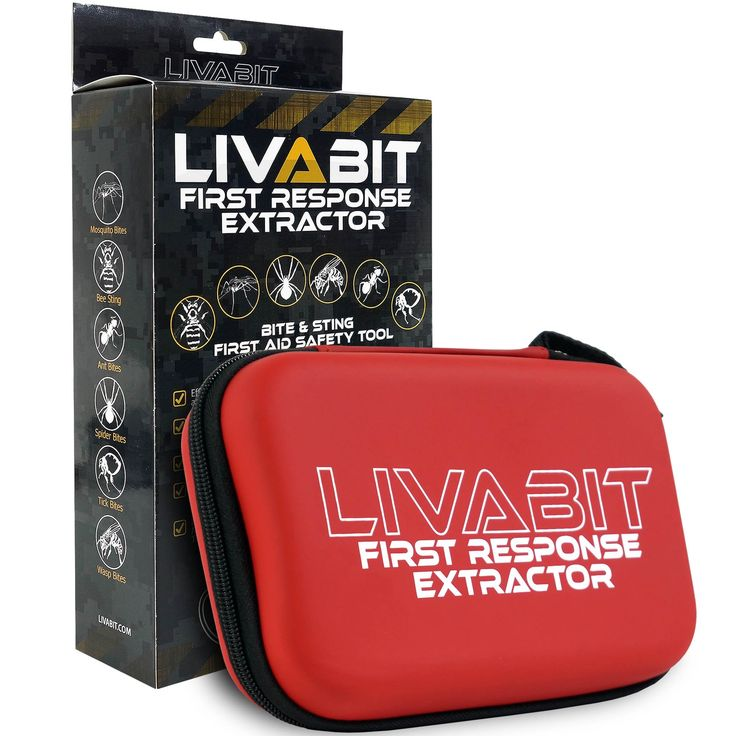 LIVABIT First Response Extractor Venom Poison Bite Extraction Pump Portable First Aid Safety Tool Kit