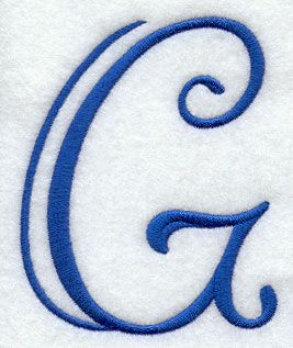 Formal Affair Capital Letter G - 4 Inch