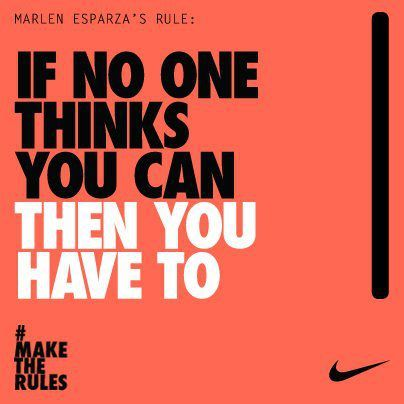 Boxer Marlen Esparza's rule to live by. #motivation #inspiration #nike