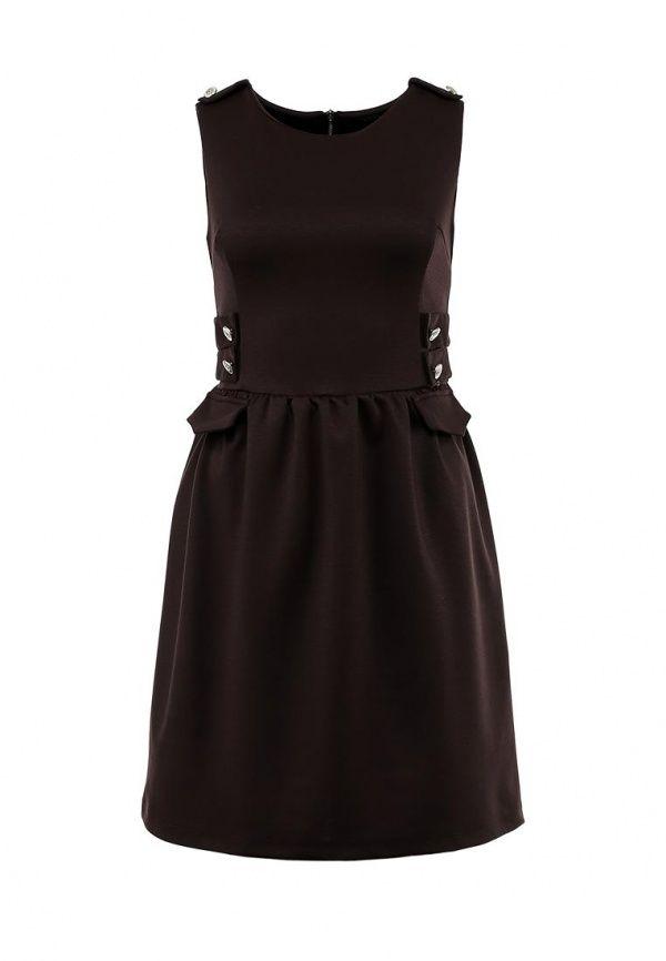 Платье Madmilk женское. Цвет: коричневый. Сезон: Осень-зима 2013/2014. С бесплатной доставкой и примеркой на Lamoda. http://j.mp/1pjY6Xn